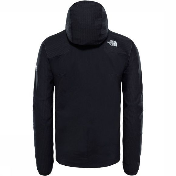 The North Face Summit L3 Ventrix Hybrid Hoodie Zwart/Donkerrood