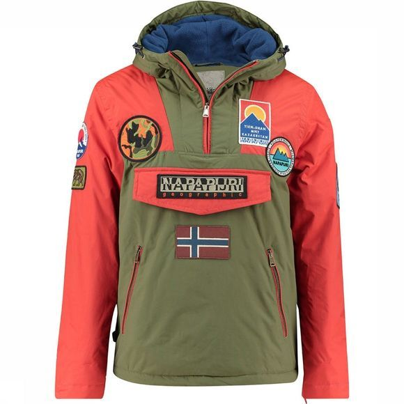 Napapijri Rainforest Multi Patch Jas Oranje/Middengroen