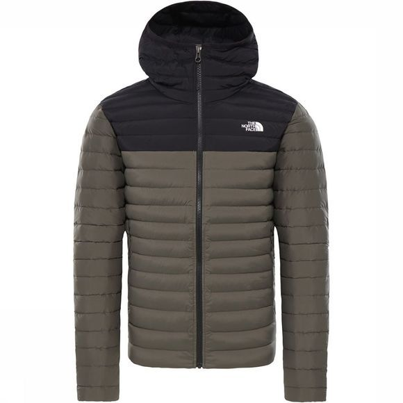 The North Face Stretch Down Hoody Taupe/Zwart