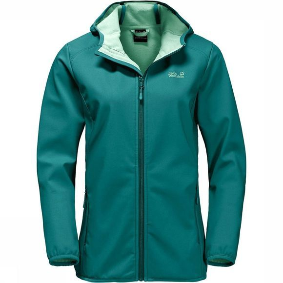 Jack Wolfskin Northern Point Softshell Dames Middengroen