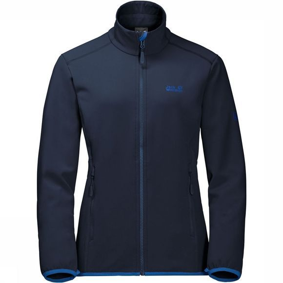 Jack Wolfskin Element Track Softshell Dames Marineblauw