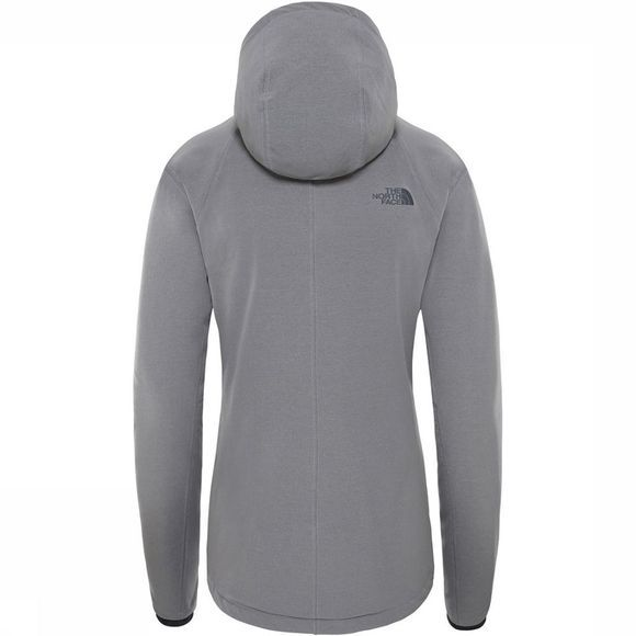 The North Face Shelbe Raschel Hoodie Softshell Dames Lichtgrijs Mengeling/Donkergrijs Mengeling