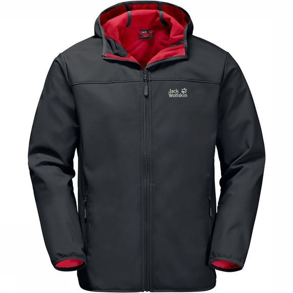 Jack Wolfskin Northern Point Softshell Donkergrijs/Rood
