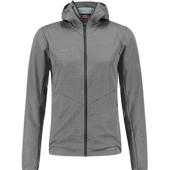 Mammut Ultimate V Tour SO Hooded Jas Zwart/Donkergrijs Mengeling