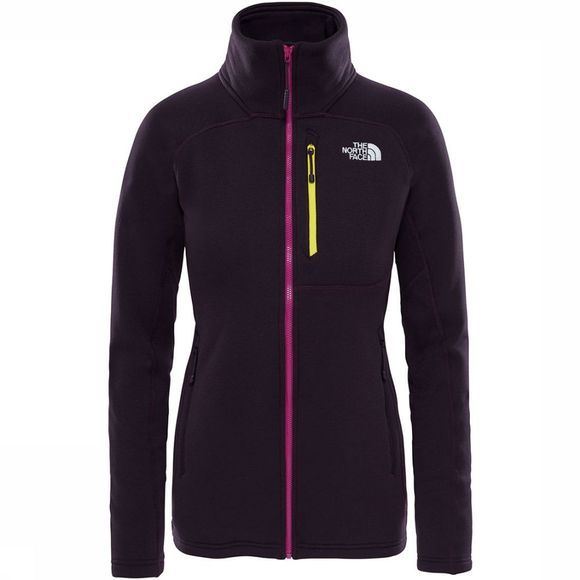 The North Face Flux 2 Power Stretch FZ Jas Dames Donkerpaars
