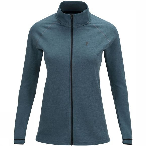 Peak Performance Power Zip Vest Dames Middenblauw