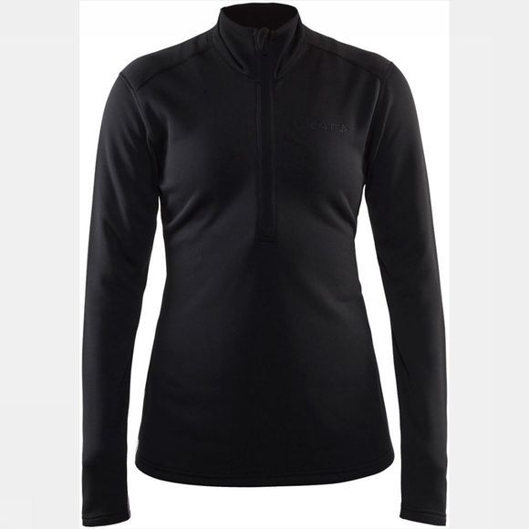 Craft Sweep Halfzip Fleece Shirt Dames Zwart