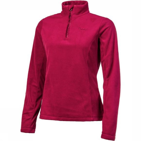 Protest Mutey 1/4 Zip Shirt Dames Donkerrood