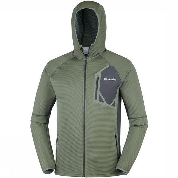 Columbia Triple Canyon  Hooded Fleece Middenkaki/Donkergrijs