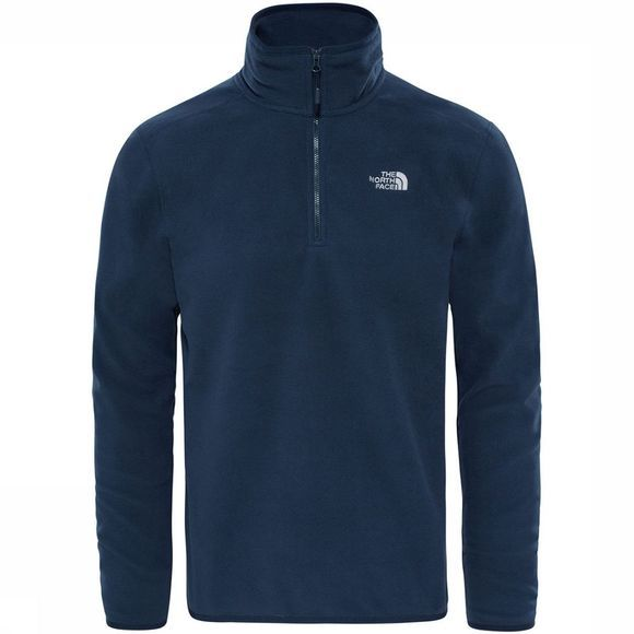 The North Face 100 Glacier 1/4 Zip Trui Marineblauw
