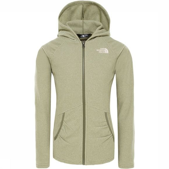 The North Face Mezzaluna Full Zip Hoodie Junior Middengroen
