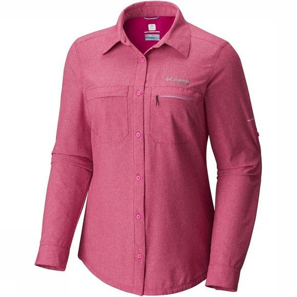 Columbia Iricolong Sleeve Shirt Dames Middenroze