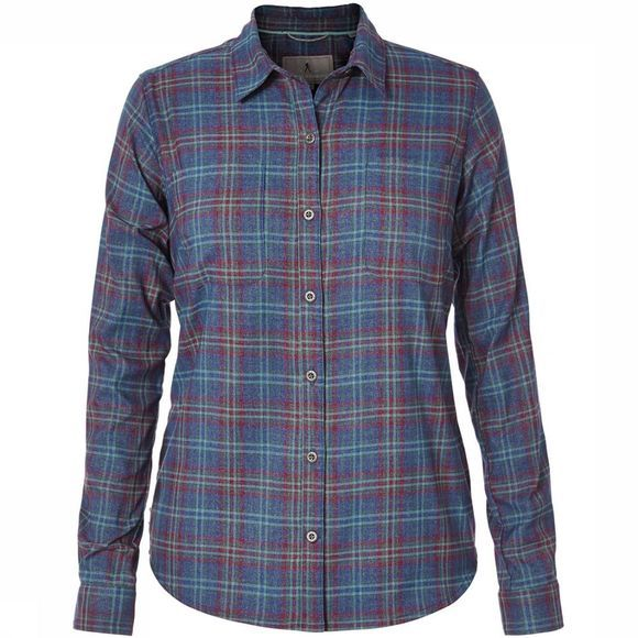 Royal Robbins Performance Flannel Shirt Dames Donkerblauw/Donkerrood