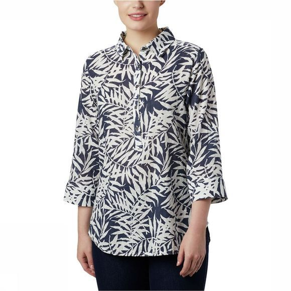 Columbia Summer Ease Shirt Dames Donkerblauw/Assortiment Bloem