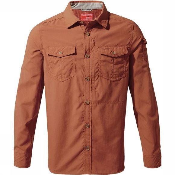 Craghoppers NosiLife Adventure Shirt Oranje/Bruin