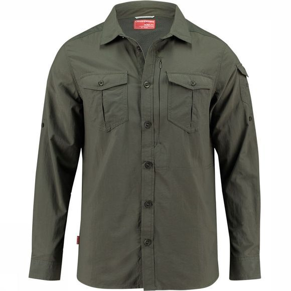 Craghoppers NosiLife Adventure Shirt Donkerkaki