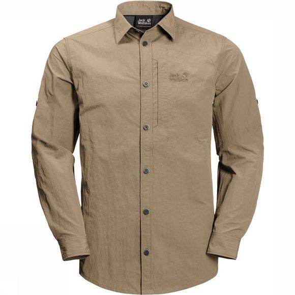 Jack Wolfskin Lakeside Roll-Up Shirt Zandbruin