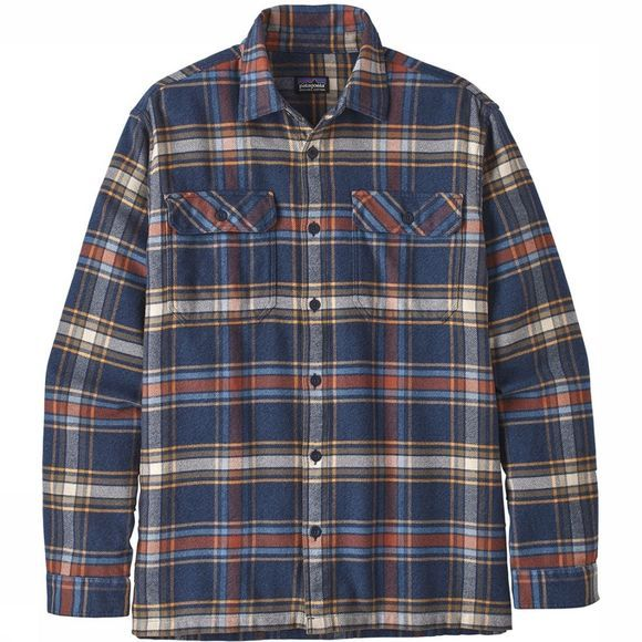 Patagonia Fjord Flannel L/S Overhemd Lichtblauw/Assortiment