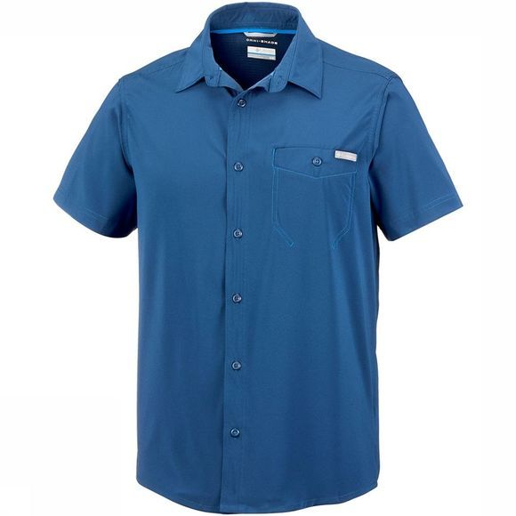 Columbia Triple Canyon  Solid Short Sleeve Shirt Donkerblauw