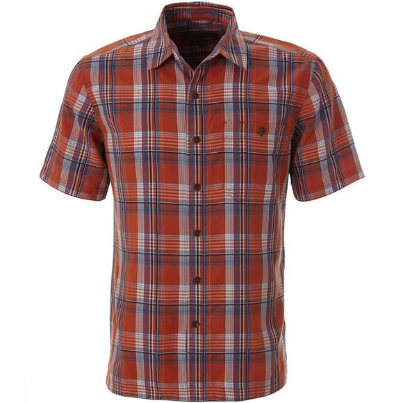 Royal Robbins Mojave Pucker Dobby Plaid S/S Shirt Donkerrood/Assortiment