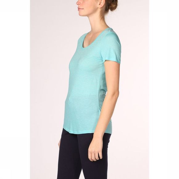 Icebreaker Sphere SS Scoop Shirt Dames Turkoois