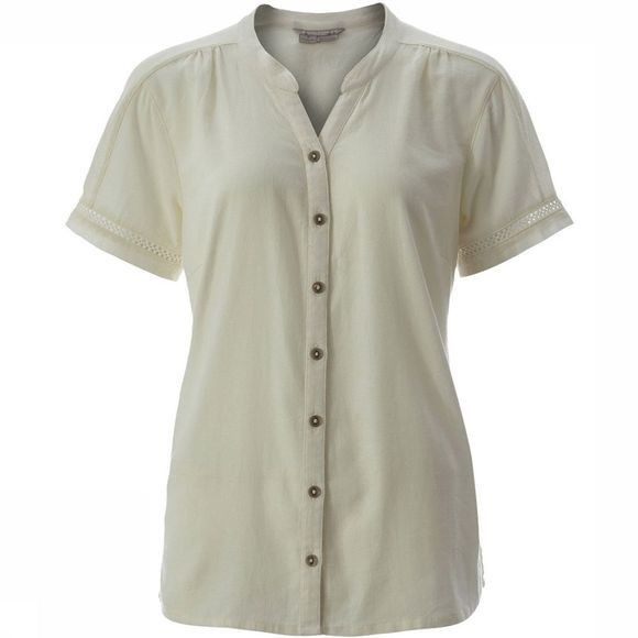 Royal Robbins Cool Mesh Eco S/S Shirt Dames Ecru