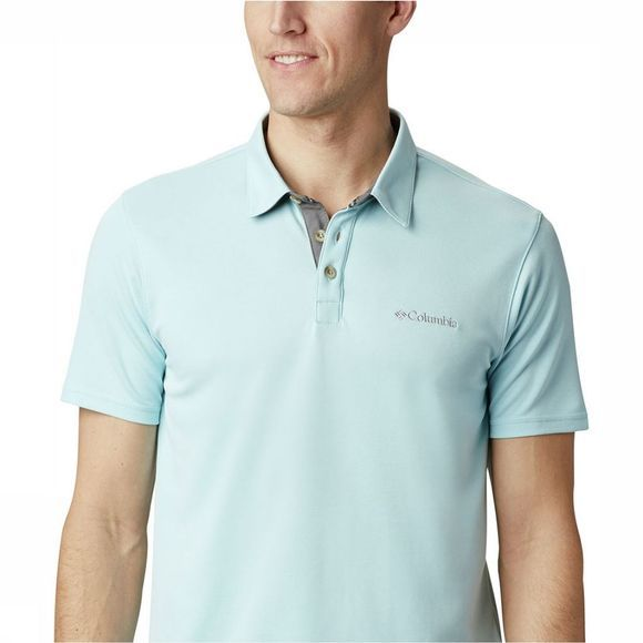 Columbia Nelson Point  Polo Lichtblauw/Blauw