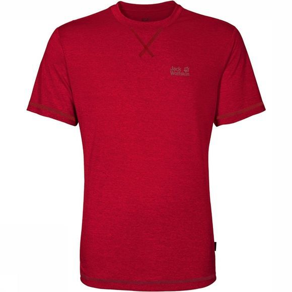 Jack Wolfskin T-Shirt Crosstrail Middenrood/Donkerrood