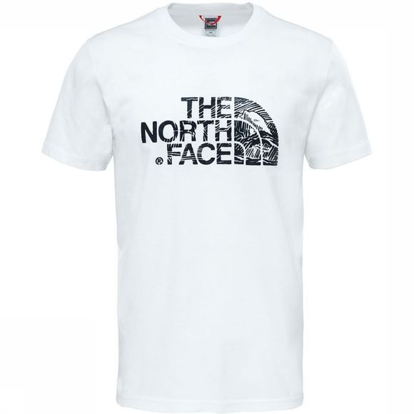 The North Face Woodcut Dome T-Shirt Wit/Zwart