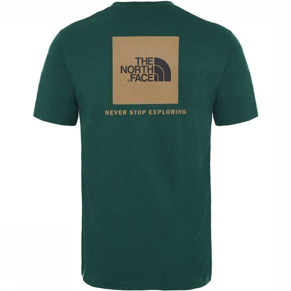 The North Face Red Box T-shirt Donkergroen/Groen