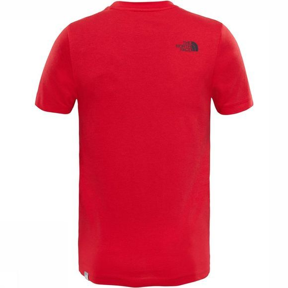 The North Face Easy Tee Shirt Junior Middenrood/Zwart