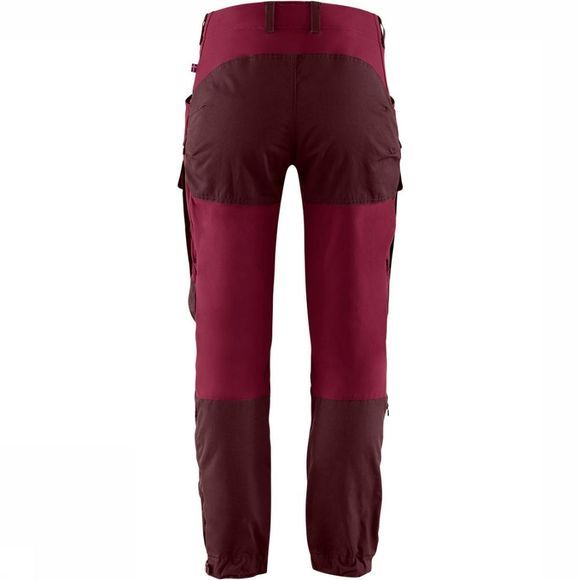 Fjällräven Keb Broek Short Dames Bordeaux/Middenrood