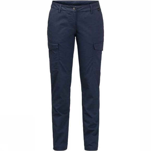 Jack Wolfskin Liberty Cargo Broek Long Dames Marineblauw
