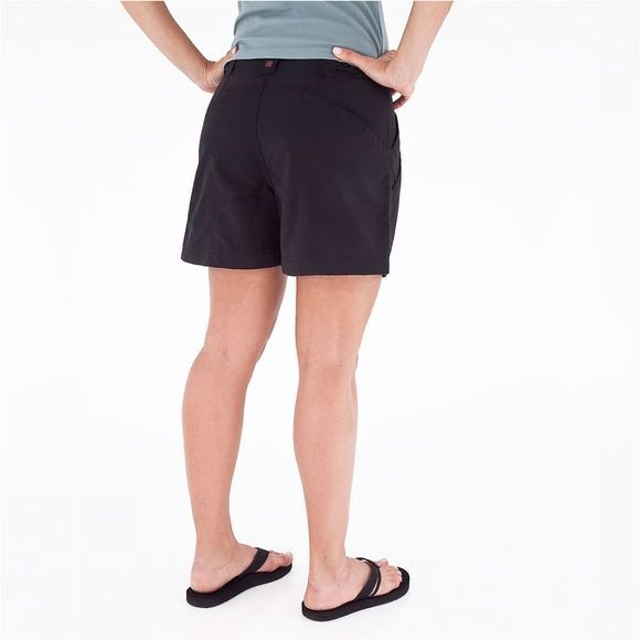 Royal Robbins Backcountry Short Dames Zwart/Donkergrijs