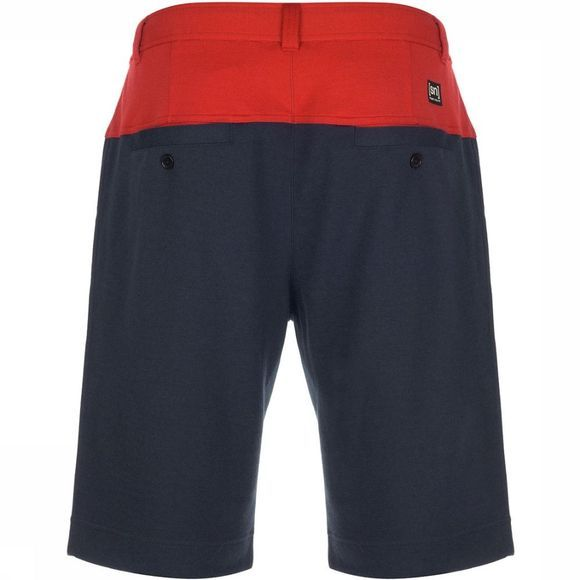 Supernatural Three Tone Shorts Rood/Donkerblauw