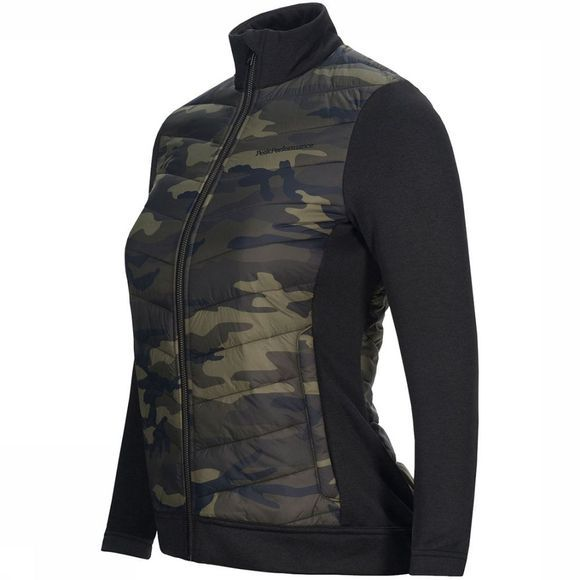 Peak Performance Fusion Down Printed Zip-Up Liner Donkerkaki/Assortiment Camouflage