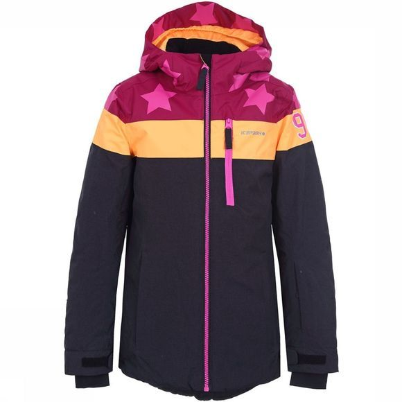 Icepeak Lane Ski-jas Junior Zwart/Middenroze