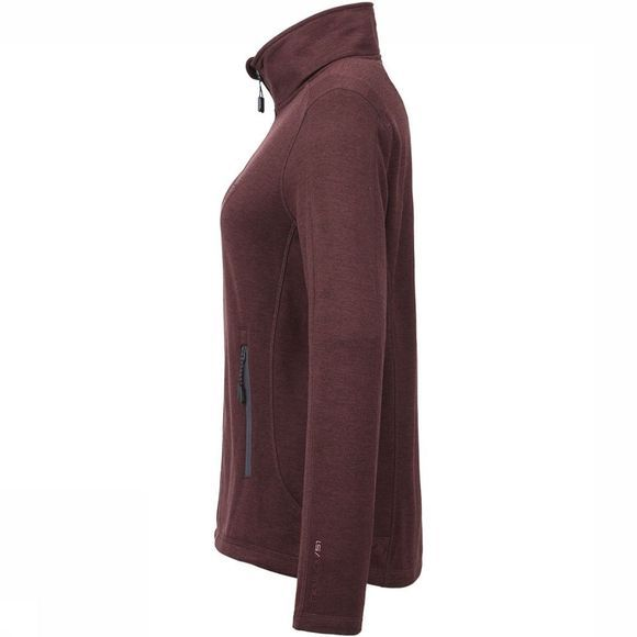 Tenson Lacy Fleece Vest Dames Bordeaux
