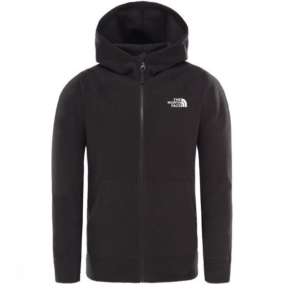 The North Face Glacier Full Zip Hoodie Junior Zwart/Wit