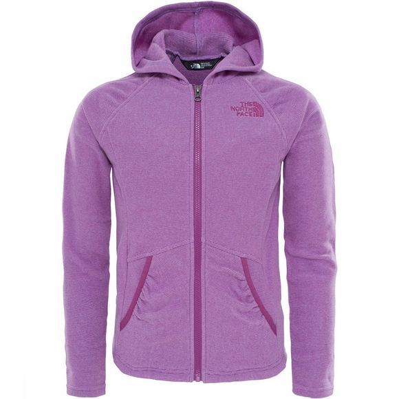 The North Face Mezzaluna Full Zip Hoodie Junior Lichtpaars