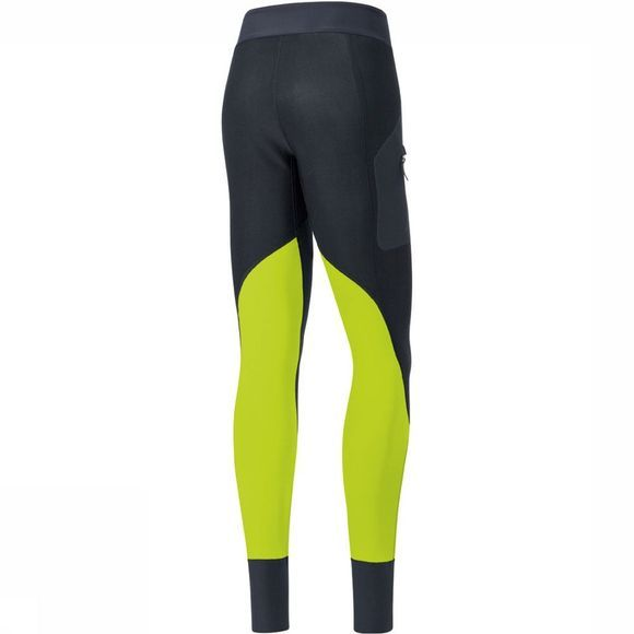 Gore Wear X7 Partial Windstopper Tight Dames Zwart/Lime