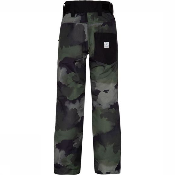 Protest Magnus JR Skibroek Junior Donkerkaki/Assortiment Camouflage