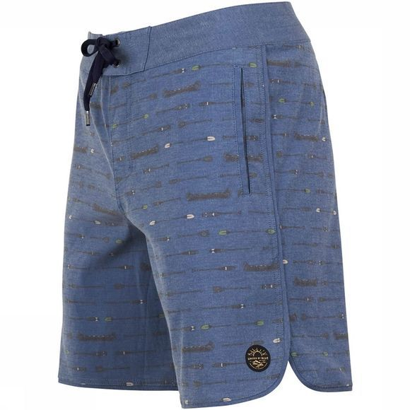 United By Blue Canoe Scallop Board Short Blauw
