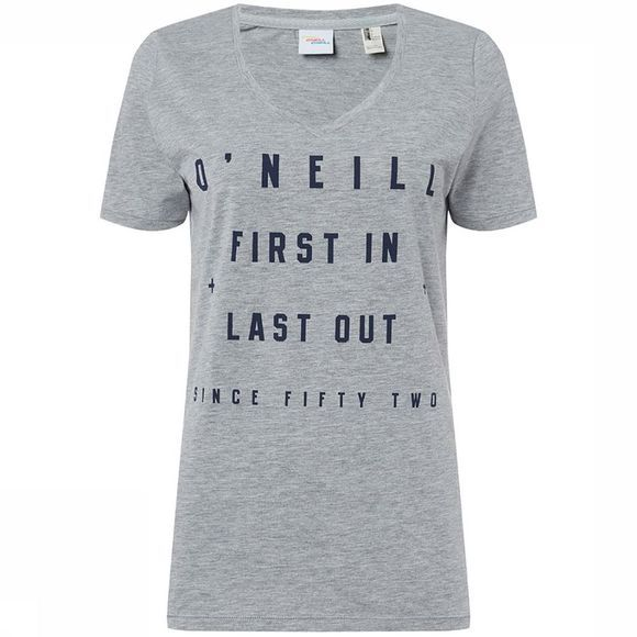 O'Neill First in, last out T-Shirt Lichtgrijs Mengeling