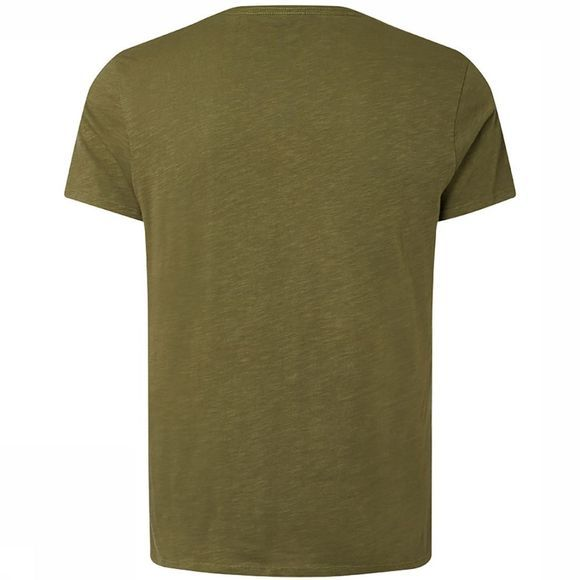 O'Neill Jacks Base V Neck T-Shirt Donkergroen/Groen