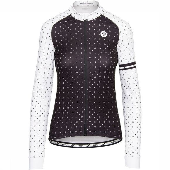 AGU Essential Velo Love Jersey LS Shirt Dames Zwart/Wit