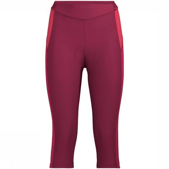 Vaude Advanced 3/4 III Broek Dames Donkerrood