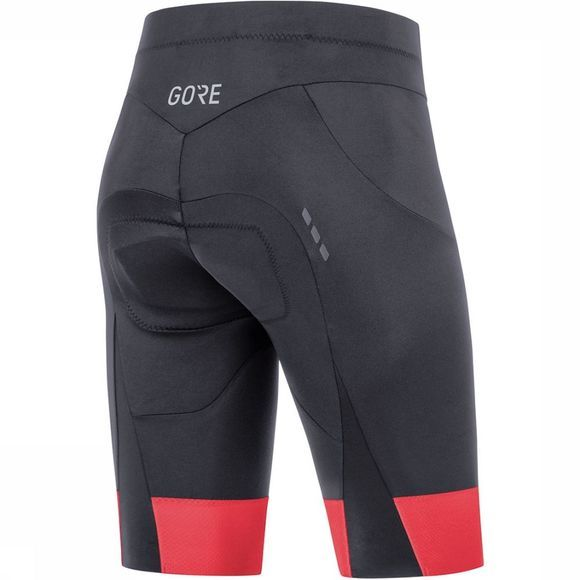 Gore Wear C5 Short Tights+ Dames Zwart/Middenroze