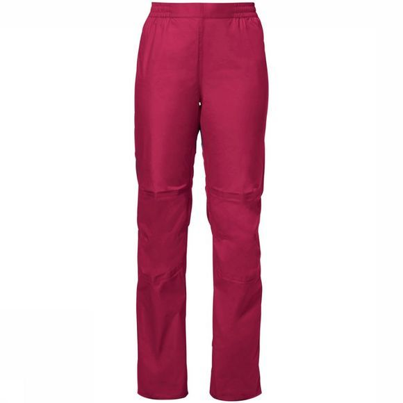 Vaude Drop Pants II Regular Regenbroek Dames Middenrood