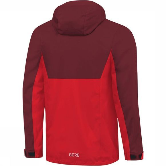 Gore Wear R3 GTX Active Hooded Jas Rood/Donkerrood